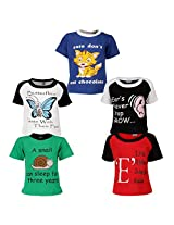 Goodway Junior Boys 5 Pack Did you Know - 2 Theme Combo Pack of 5 T-Shirts - 3-4 Years