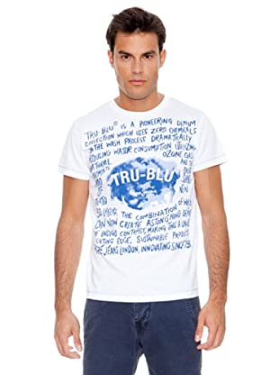 Pepe Jeans London Camiseta Tru Blue Rt (Blanco)