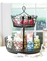 Rotating Makeup Organizer Black