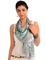 Monument gray printed readymade stole