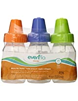 Evenflo 3 Pack Classic Clear Bottle without BPA, 4 Ounce