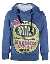 Babyhug Full Sleeves Hooded Sweatshirt - British Print