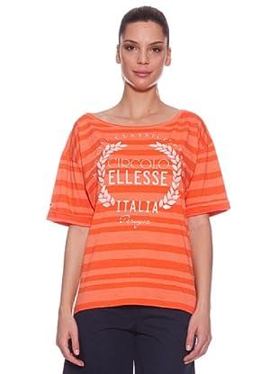 Ellese Camiseta Striped (Coral / Naranja)