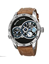 Joshua & Sons Men's JS97SSBR Analog Display Japanese Quartz Brown Watch