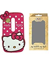 MACC Designer Soft Back Cartoon Cover Case Silicon 3D For Motorola Moto G (3rd gen) / G3 - HKWP DPINK