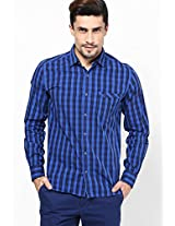 Checks Blue Casual Shirt