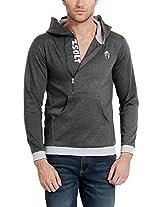 Zsolt Full sleeve Zipper Hoodies For Men. (Medium, Grey)