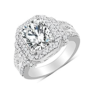 BridalMe American Diamond Silver Ring For Women (JZR2429WCZ_SS)