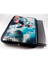 Devarshy Limited Edition Digital Print Quilted 17 Inch Laptop Bag/ Pouch - Ironman In Silver Suit