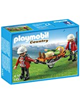 Playmobil Mountain Rescuers with Stretcher, Multi Color