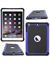 DMG Hybrid Dual Layer Armor Defender Protective Case Cover for Apple iPad Mini / Mini 2 / Mini 3 (Blue)