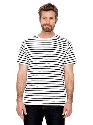 Cortefiel T-Shirt Streifen (Marineblau)