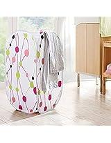 Bathroom Foldable Washing Clothes Basket Laundry Bag Storage Hamper Bin Clothing Storage (Pattern: Dot)