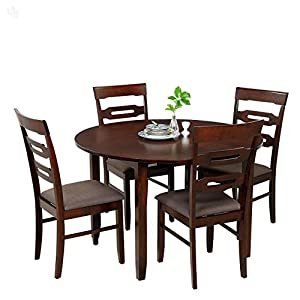 Style Spa Dining Table Set - Sage Honey Brown Finish