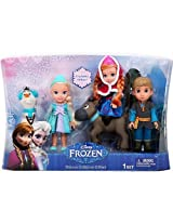 Disney Frozen, Toddler Dolls, Exclusive Deluxe Collector Gift Set, Elsa, Anna, Sven, Kristoff, and Olaf 5-pack