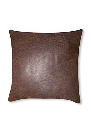 Natural Siena Leather Pillow (Chocolate Brown)