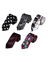 DANF0002 Multicolored Stain Interview Skinny Boys Neck Ties - 5 Styles Available By Dan Smith