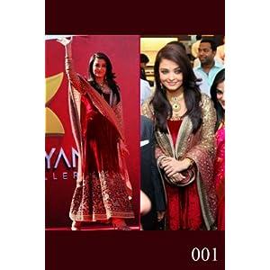 Aishwarya Rai In Maroon Velvet Anarkali Suit In Dubai