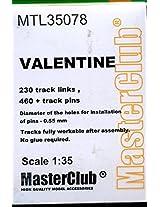 Master Club 1:35 Wwii Valentine Tank White Metal Workable Tracks #Mtl35078