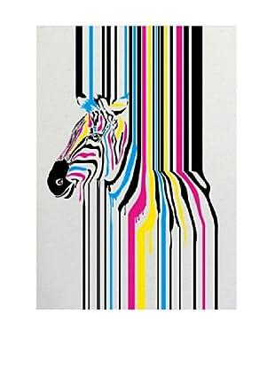 Lienzos Decoración Vertical Zebra Fushion
