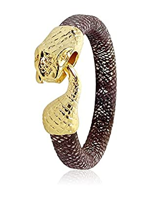 Philippa Gold Brazalete Snake Bracelet metal bañado en oro 24 ct