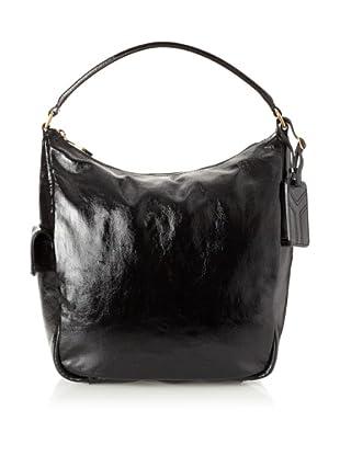 Yves Saint Laurent Women's Medium Patent Leather Tote, Black
