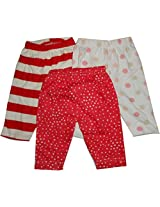 Bubbles Leggings Pajamas For Kids , Set Of 3 (0-3 Months)