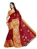 Maroon Monica Banarasi Silk Handloom Saree