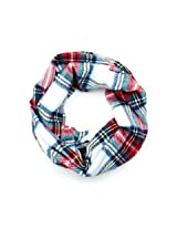 Lace Trim Plaid Infinity Scarf