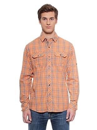 Timeout Camisa Cuadros (Naranja)