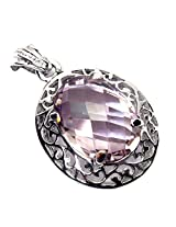 Admyro Amethyst Gemstone Pendant-925 Silver Jewelry-Pendant-Gift For Her -AZP 673