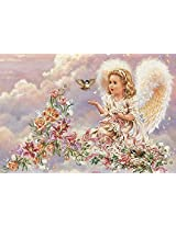 Printed Cross-stitch Kits Flowers Angel Embroidery Set European Series Big Picture Home Decor With Tools