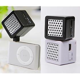 iPod用ミニキューブスピーカー ホワイトmini cube speaker
