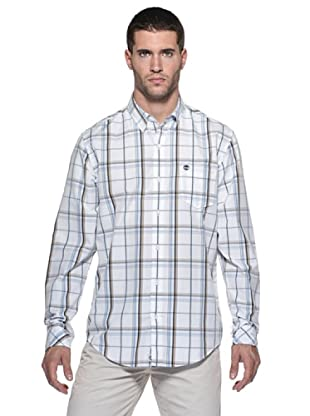 Timberland Camisa Claremont (Blanco/Turquesa)