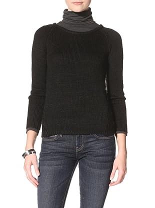 Acrobat Women's Open-Knit Sweater (Black)