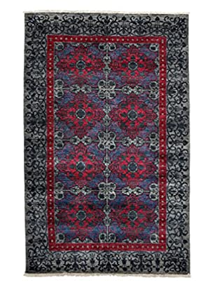 Darya Rugs Suzani Oriental Rug, Silver, 5' 2