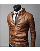 Zayn Leather Men's Leather Jacket (168_WLJ_Brown_XX-Large)
