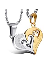 Yellow Chimes Rhinestone Gold Pendant Necklace For Girls & Boys