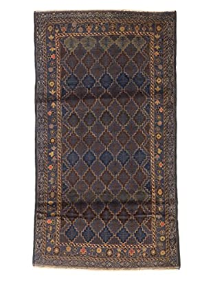eCarpet Gallery One-of-a-Kind Hand-Knotted Royal Baluch Rug, Navy, 3' 7