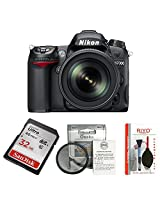 Nikon D7000 Kit (18-105mm VR Lens) + Basic Accessory Kit - SanDisk 32GB Ultra SDHC + Osaka 52mm UV Filter and Riyo Cleaning Kit