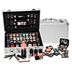SHANY Cosmetics Carry All Train Case with Makeup and Reusable Aluminium Case -