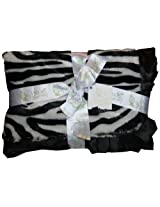 "Pickles 30X40"" Journey Fleece Baby Blanket, Zebra (Discontinued by Manufacturer)"