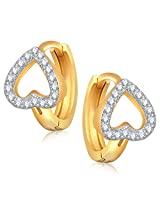 Meenaz Bali Earrings For Girls And Women Gold Plated In American Diamond Cz B166