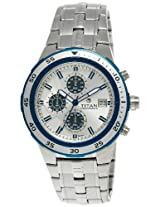 Titan Octane Chronograph Silver Dial Men's Watch - NE9466KM02J
