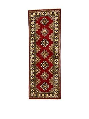 L'EDEN DEL TAPPETO Alfombra Uzebekistan Super Rojo/Multicolor 60 x 173 cm