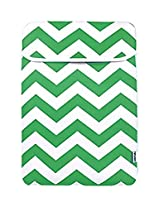 TopCase Chevron Series Green Sleeve Bag Cover for New Released Macbook 12 12-Inch Model : A1534 Retina Notebook