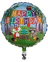 "Happy Birthday Woodland Critter 18"" Mylar Balloon"