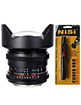 Samyang Cine SYCV14M-C 14mm T3.1 Cine Wide Angle Lens for Canon (Black) + Nisi Pro LensPen Lens Cleaner