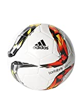adidas DFL Glider Rubber Football, Size 5 (White)