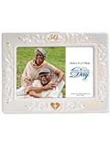 Enesco This Is the Day by Gregg Gift for Enesco 50 Years Frame, 6-Inch